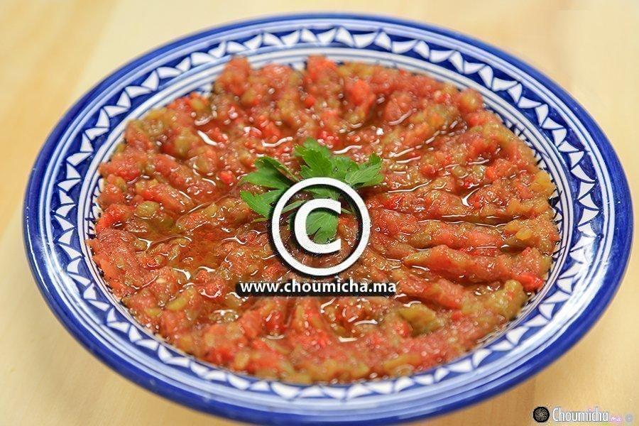 Recette salade de tomate et poivron grill s - Salade de poivron grille ...