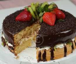 Sponge cake aux fruits